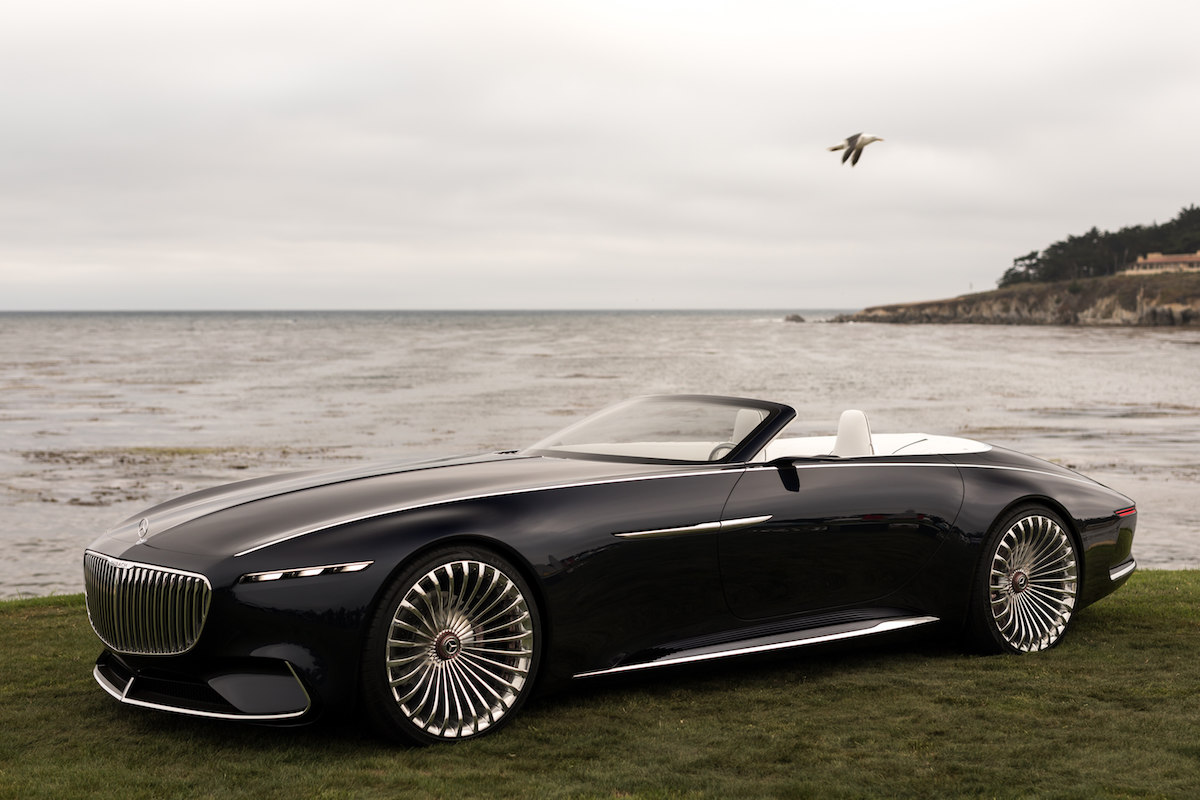 study of an ultra stylish luxury class cabriolet mercedes maybach electric car concept. Black Bedroom Furniture Sets. Home Design Ideas